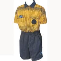 5013NC NISOA Coolwick SS Gold Grid Shirt