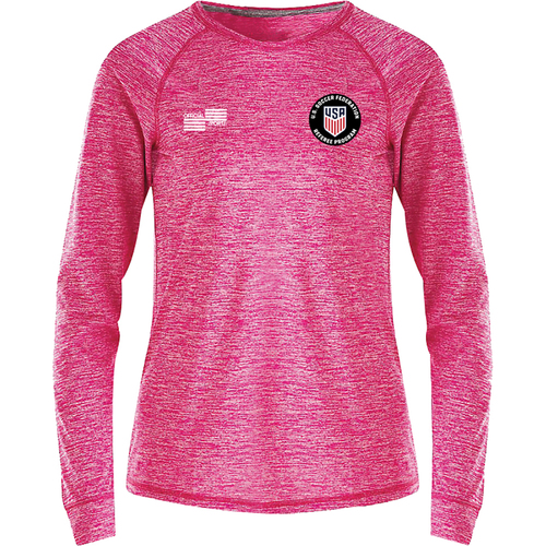 W2241CL Women's USSF Heathered Long Sleeve T