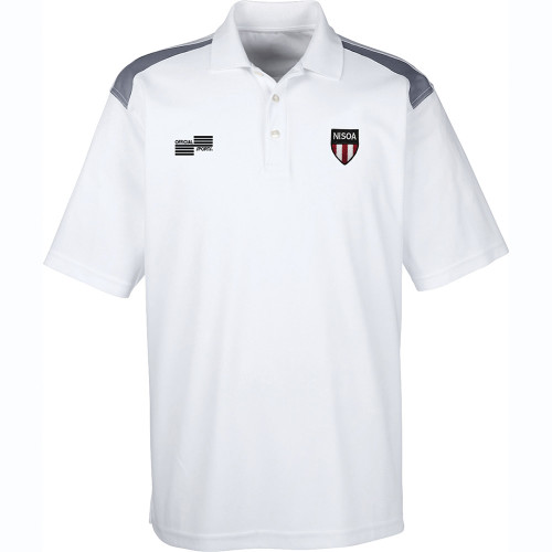 2066N NISOA White w/Grey Accent MM Golf Shirt