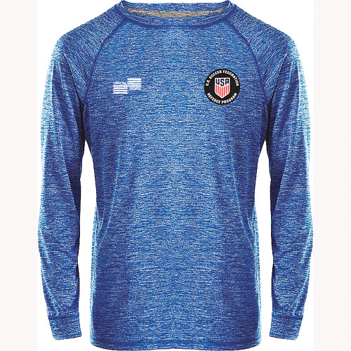 2241CL USSF Heathered Long Sleeve T
