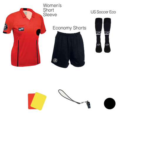 W1817R Women's Red 7 Piece USSF Starter Kit