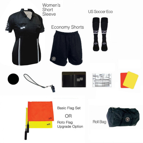 W1815BLK Women's Black 11 Piece USSF Starter Kit RBag