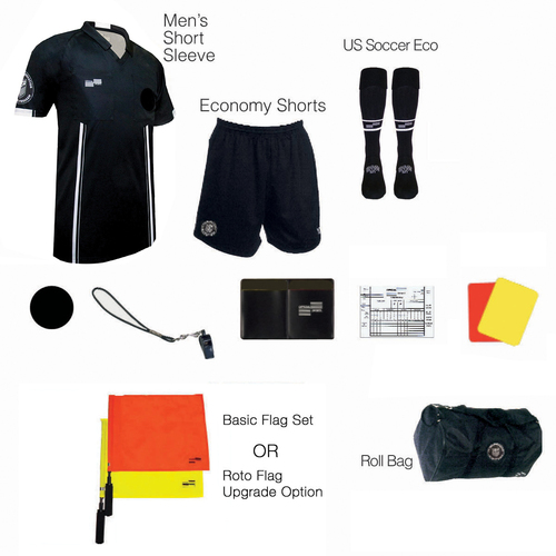 1815BLK Men's Black 11 Piece USSF Starter Kit RBag