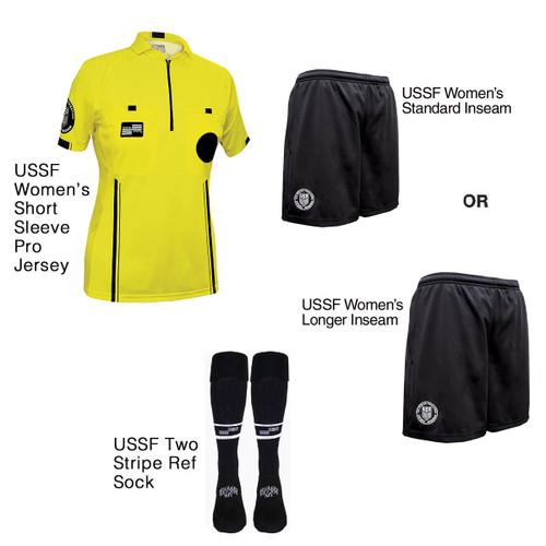 W9900Y Women's Yellow Pro Short Sleeve Kit