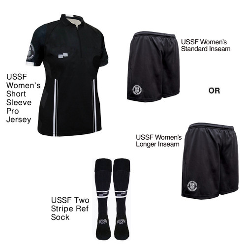 W9900B Women's Black Pro Short Sleeve Kit