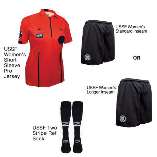W9900R Women's Red Pro Short Sleeve Kit
