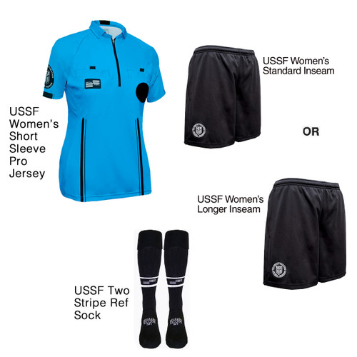 W9900BLU Women's Blue Pro Short Sleeve Kit