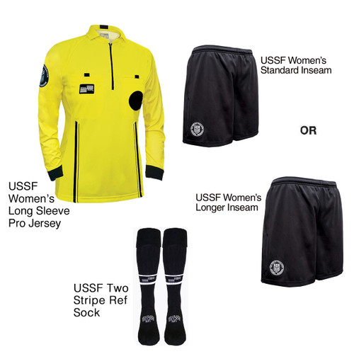 W9901Y Women's Yellow Pro Long Sleeve Kit