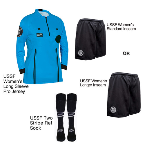 W9901BLU Women's Blue Pro Long Sleeve Kit