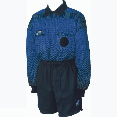 5018NC NISOA Coolwick LS Blue Grid Shirt