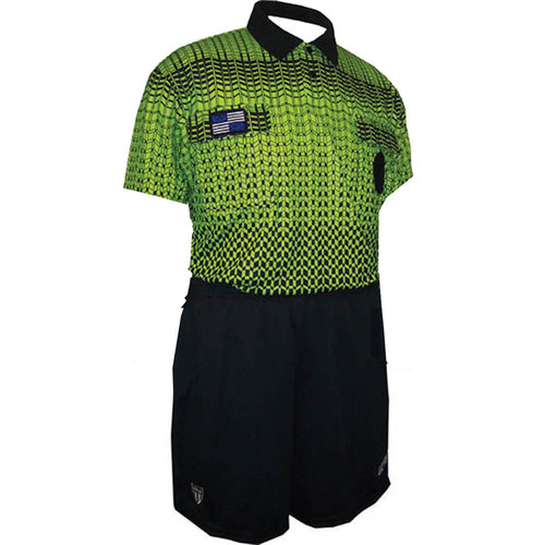 5021NC NISOA Coolwick SS Green Grid Shirt