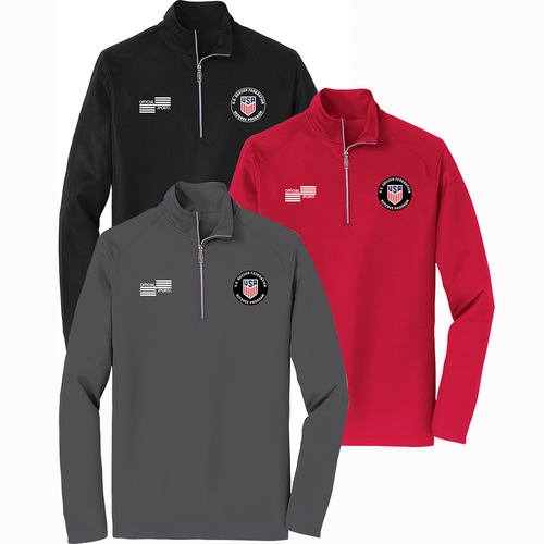 2223CL USSF Quarter Zip Long Sleeve