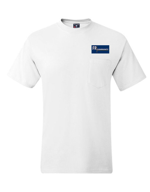 White Beefy Short Sleeve Shirt with Pocket