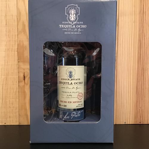 Tequila Ocho Plata - Gift Box w/Glasses