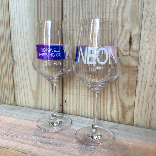 """Stemmed Glass from Hopewell - """"Neon"""""""