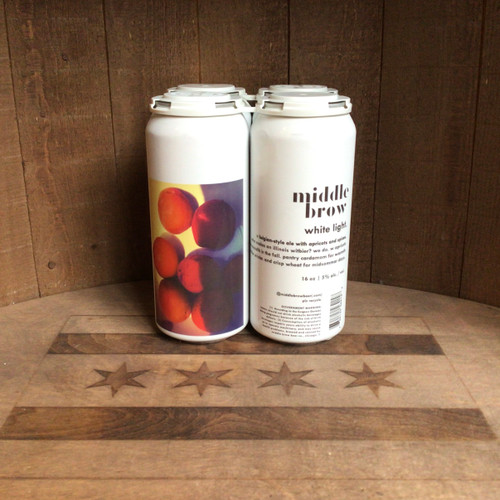 Middle Brow - White Light - Belgian Witbier w/ Apricots