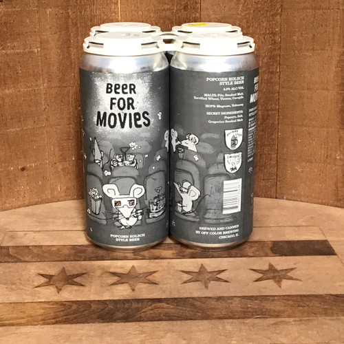 Off Color - Beer for Movies - Popcorn Kolsch Style Beer