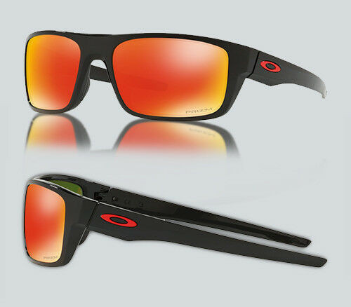 Authentic Oakley 0OO 9367 DROP POINT 936716 POLISHED BLACK Sunglasses