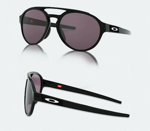 Authentic Oakley 0OO 9421 FORAGER 942101 POLISHED BLACK Sunglasses