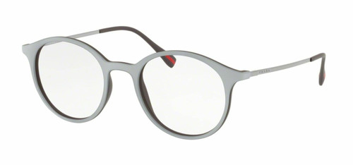 Authentic Prada Linea Rossa 0PS 02IV VY01O1 TOP GREY/BROWN RUBBER Eyeglasses