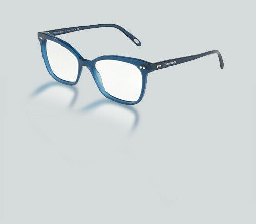 Authentic Tiffany & Co. 0TF2155F 8234 OPAL BLUE/SILVER SERIGRAPHY Eyeglasses
