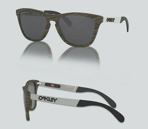 Authentic Oakley 0OO 9428 FROGSKINS MIX A 942804 WOODGRAIN Polarized Sunglasses