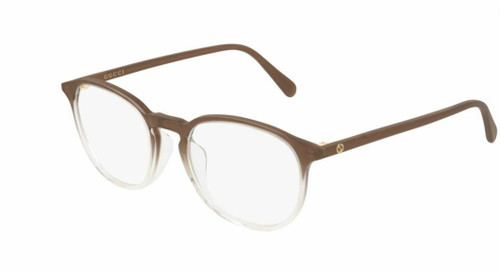Authentic Gucci GG 0552OA 007 Brown/Crystal Eyeglasses