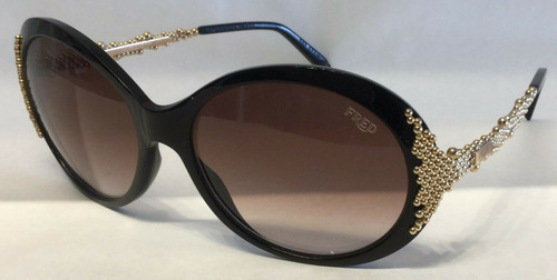 Authentic Fred Pearls 8451 202 Black/Gold Pearls Gradient Sunglasses