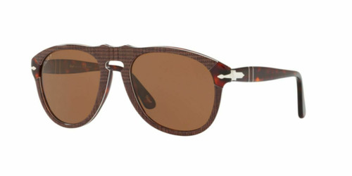 Authentic Persol 0PO0649-1091AN P Galles Brown Polarized 0649 Sunglasses