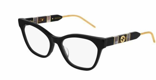 Authentic Gucci GG 0600O 001 Black Eyeglasses