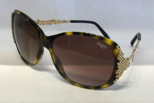 Authentic Fred Pearls 8452 203 Havana/Gold Pearls Sunglasses