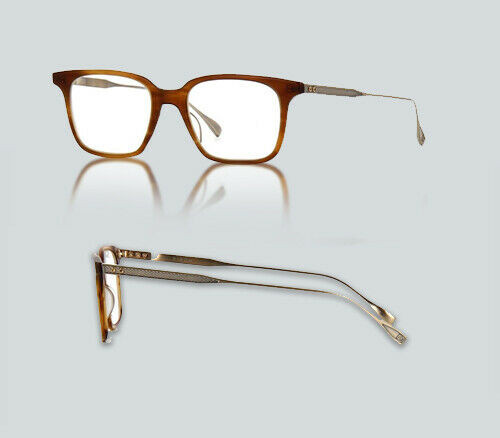 Authentic Dita Birch DRX 2074 B Matte Amber and Antique 12K Gold Eyeglasses