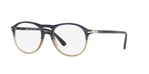 Authentic Persol 0PO3202V-1067 Green Beige Striped Opal Green 3202 Eyeglasses