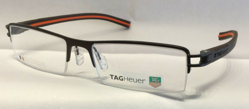 Authentic Tag Heuer TH7623 O 009 Brown/Orange Eyeglasses