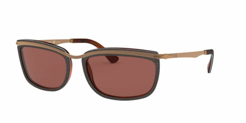 Authentic Persol Key West II 0PO3229S-1092AK Brown Polarized 3229 S Sunglasses
