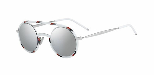 Christian Dior Homme  Diorsynthesis 01 T2G/0T Spotted White Red Sunglasses