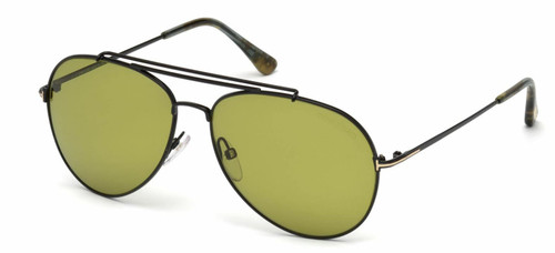 Authentic Tom Ford FT0497 Indiana 01N Shiny Black Sunglasses