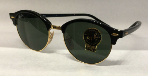 Ray Ban 0RB4246 CLUBROUND 901 BLACK Sunglasses