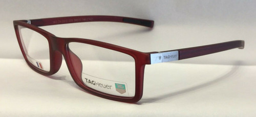 Authentic Tag Heuer TH0512 O 009 Matte Red Eyeglasses