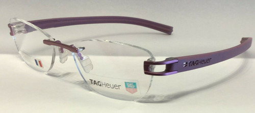 Authentic Tag Heuer TH7646 O 016 Purple Rimless Eyeglasses
