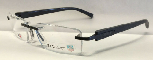 Authentic Tag Heuer TH8103 O 010 Dark Brown Rimless Eyeglasses