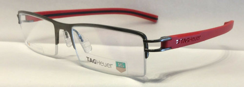 Authentic Tag Heuer TH7623 O 010 Ruthenium/Red Eyeglasses
