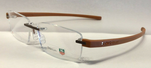 Authentic Tag Heuer TH3943 O 007 Mustard Rimless Eyeglasses