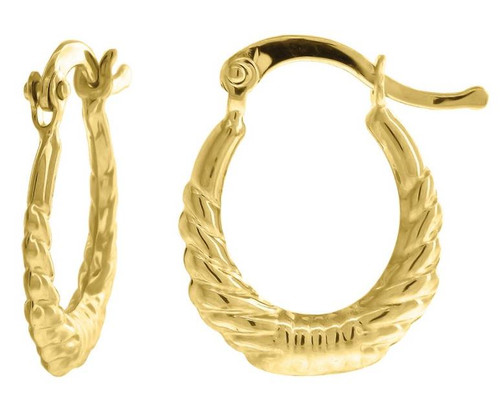 10kt Yellow Gold Fashion Hoop Earrings 18.1 mm