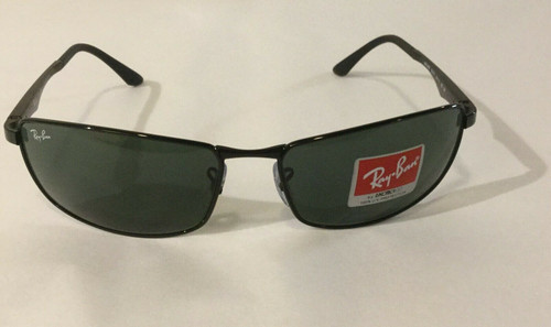 Authentic Ray Ban 0RB3498 N/A 002/71 BLACK Sunglasses