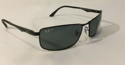Authentic Ray Ban 0RB3498 N/A 006/81 MATTE BLACK Polarized Sunglasses