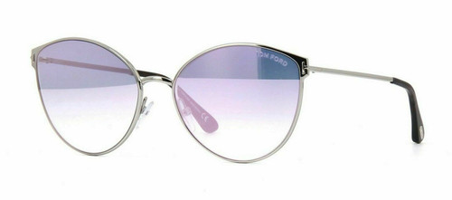 Authentic Tom Ford FT 0654 Zeila 16Z Silver/Pink Shaded Flash Mirror Sunglasses