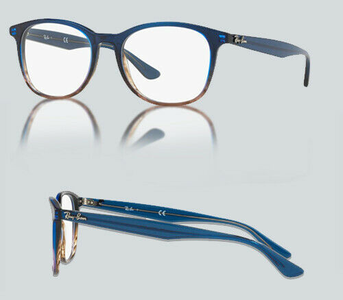 AUTHENTIC RAY BAN 0RX 5356 5765 GRADIENT BLUE ON STRIPPED GREY Eyeglasses