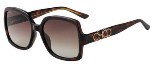 Authentic Jimmy Choo Sammi/G/S-0086/LA Dark Havana Sammi gs Sunglasses
