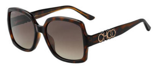 Authentic Jimmy Choo Sammi/G/S-0086/HA Dark Havana Sammi gs Sunglasses